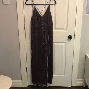 UO Mauve velvet maxi dress